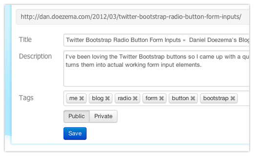 Twitter Bootstrap Radio Button Form Inputs Result
